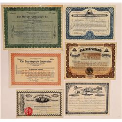 Lithography Printing Company Stock Certificates  (126283)