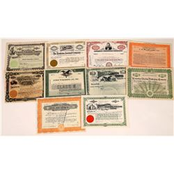 Publishing Press & Book Related Stock Certificate Group  (109122)