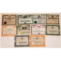 Publishing Press & Book Related Stock Certificate Group  (107989)