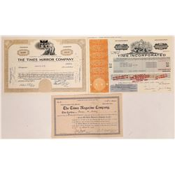 Times Publishing Stock Certificates  (126300)
