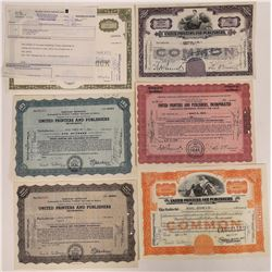 United Printers & Publishers Inc. Stock Certificate Collection  (126295)