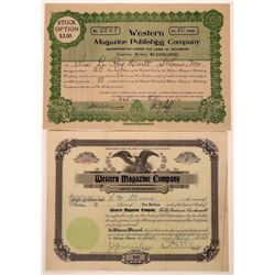 Western Magazine Stock Certificates  (126299)