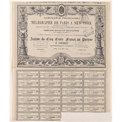 Compagnie Francaise du Telegraphe de Paris a New York Bond  (126365)