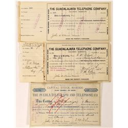 Mexico Telegraph & Telephone Stock Certificates  (126440)