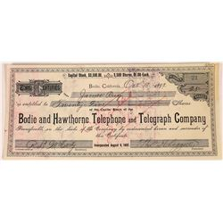 Bodie and Hawthorne Telephone & Telegraph Co. Stock Certificate  (113787)