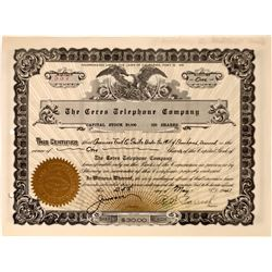 Ceres Telephone Company Stock Certificate  (126241)