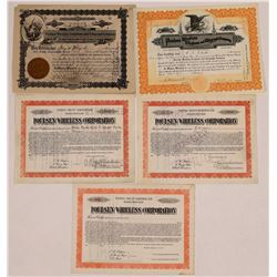 Poulsen Wireless Telephone & Telegraph Co. Stock Certificate Group  (126390)