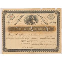 Apalachicola & Marianna Telegraph Co. Stock Certificate  (126370)