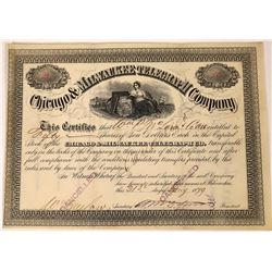Chicago & Milwaukee Telegraph Company Stock Certificate  (126240)
