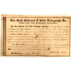 New Orleans & Ohio Telegraph Company Bond  (126407)