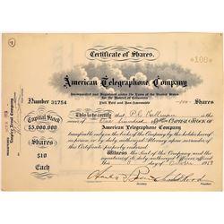 American Telegraphone Company Stock Certificate  (126374)