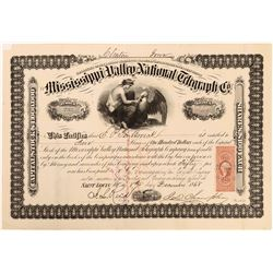 Mississippi Valley National Telegraph Co. Stock Certificate  (126399)
