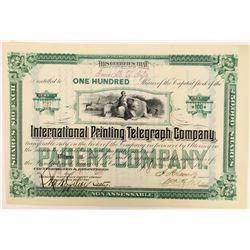 International Printing & Telegraph Company Stock Certificate  (126429)