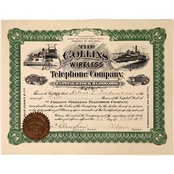 Collins Wireless Telephone Company Stock Certificate  (126238)