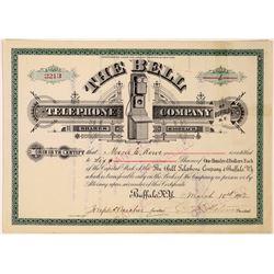 Bell Telephone Company of Buffalo, NY Stock Certificate  (126245)