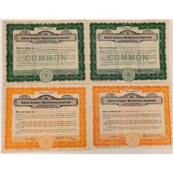 Federal Telephone Manufacturing Corp. Stock Certificates  (126384)