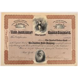 American Cable Company Stock Certificate  (126430)