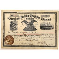 American Portable Telephone Co. of New York Stock Certificate  (126432)