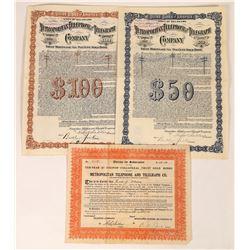 Metropolitan Telephone & Telegraph Company Bonds  (126436)