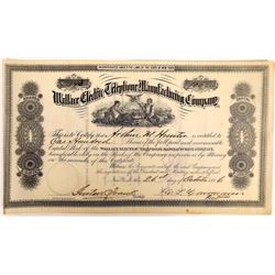 Wallace Electric Telephone Manufacturing Co. Stock Certificate  (126395)