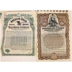 American Union Telephone Company Bonds  (126373)