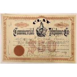 Clay Commercial Telephone Company Stock Certificate  (126433)