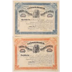 Consolidated Wireless Telegraph & Telephone Co. Stock Certificate Pair  (126255)