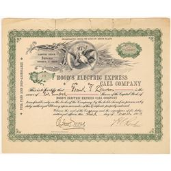 Rood's Electric Express Call Company Stock Certificate  (126253)