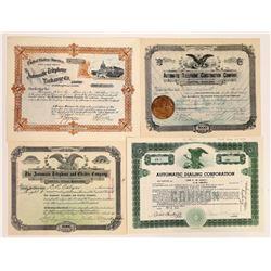 """Automatic"" Telephone Companies Stock Certificates  (126447)"