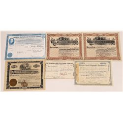 Telegraph and Telephone Stock Certificate Group  (109245)