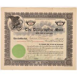 Telegraphic Mail Stock Certificate  (126251)
