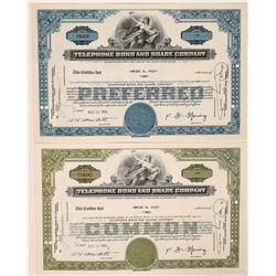 Telephone Bond & Share Company Stock Certificate Pair  (126249)