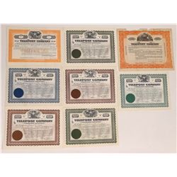 Telepost Company Stock Certificate Group  (126443)