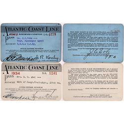 Atlantic Coast Line Railroad Passes - 2  (126663)