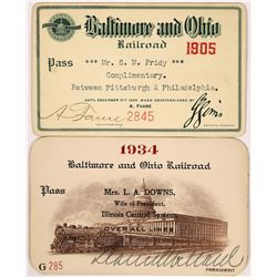 Baltimore and Ohio Railroad Passes - 2  (126664)