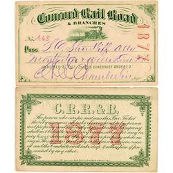 Concord Rail Road Annual Pass  (113314)