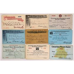 Chicago, Northern Midwestern US Railroad Passes - 9  (126672)