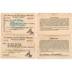 Denver & Rio Grande Western Railroad Co. Annual Passes  (113303)