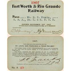 Fort Worth & Rio Grande Railway Annual Pass  (113308)