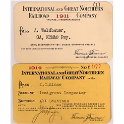 Int'l and Great Northern Railway Co Passes - 2  (126677)