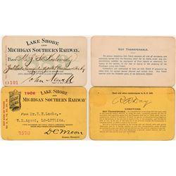 Lake Shore & Michigan Southern Railway Annual Passes  (113310)