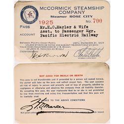 McCormick Steamship Co Pass  (126678)