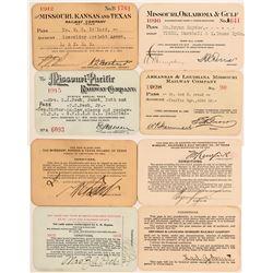 "Four Different ""Missouri"" Railroad Passes  (113322)"