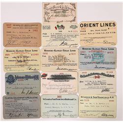 MO, AR, KS, IA Central US Railroad Passes - 13  (126671)