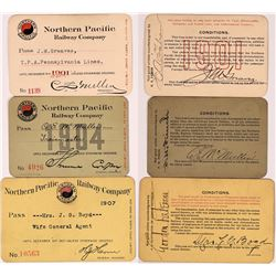 Northern Pacific Railway Co Passes - 3  (126668)