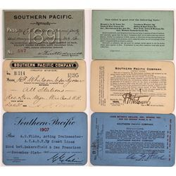 Southern Pacific Railroad Passes - 3  (126667)