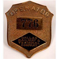 Dallas Rail Way & Terminal Company Hat Badge  (126631)