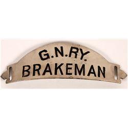 Great Northern Railway Lines Brakeman Hat Badge  (126633)