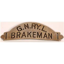 Great Northern Railway Lines Brakeman Hat Badge with maker stamp  (126632)