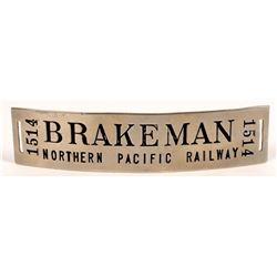 Northern Pacific Railway Brakeman Hat Badge  (126636)